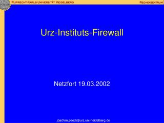 Urz-Instituts-Firewall