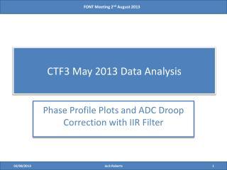 CTF3 May 2013 Data Analysis