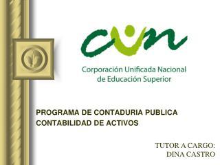 PROGRAMA DE CONTADURIA PUBLICA CONTABILIDAD DE ACTIVOS