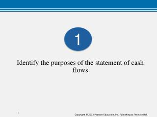 Identify the purposes of the statement of cash flows