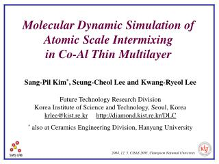 Molecular Dynamic Simulation of Atomic Scale Intermixing  in Co-Al Thin  Multi layer