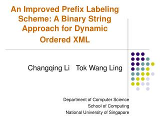 An Improved Prefix Labeling Scheme: A Binary String Approach for Dynamic Ordered XML