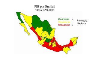 PIB por Entidad TCPA 1994-2003