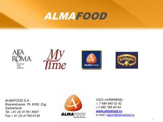 ALMA FOOD