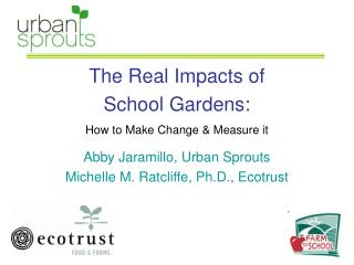 The Real Impacts of  School Gardens:  How to Make Change & Measure it
