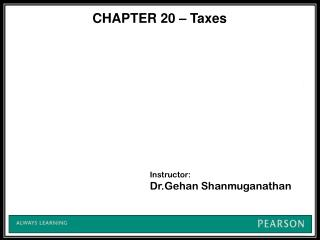 Instructor: Dr.Gehan Shanmuganathan