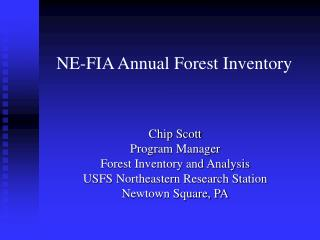 NE-FIA Annual Forest Inventory