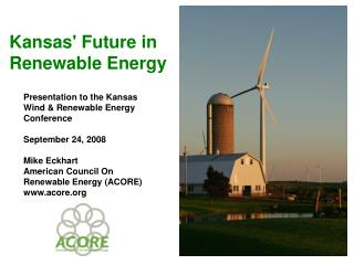 Kansas' Future in Renewable Energy