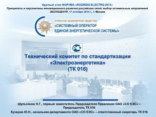Технический комитет по стандартизации «Электроэнергетика» (ТК 016)