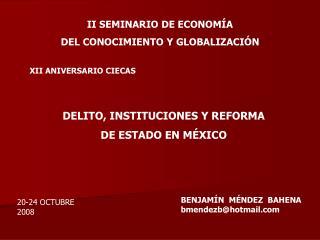 II SEMINARIO DE ECONOMÍA  DEL CONOCIMIENTO Y GLOBALIZACIÓN