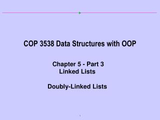 COP 3538 Data Structures with OOP