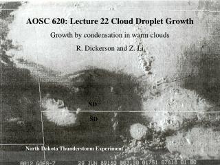 North Dakota Thunderstorm Experiment