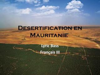 Desertification en Mauritanie