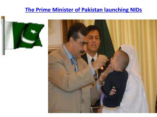 The Prime Minister of Pakistan launching NIDs