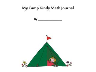 My Camp Kindy Math Journal By _________________