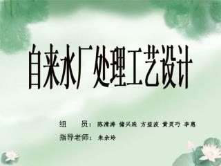 组       员: 陈清涛 储兴珠 方益波 黄灵巧 李惠 指导老师: 朱余玲