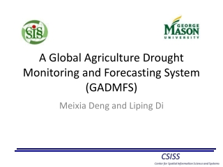 Global and Regional Drought Monitoring Implementation through the Global Earth Observation System of Systems GEOSS
