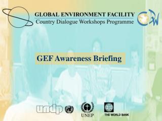 Sesi n informativa para el conocimiento de los GEF