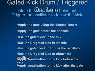 Gated Kick Drum