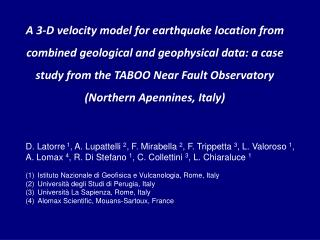 TABOO: The Alto Tiberina Near Fault Observatory