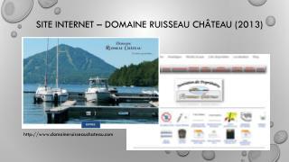 SITE INTERNET � DOMAINE RUISSEAU CH�TEAU (2013)