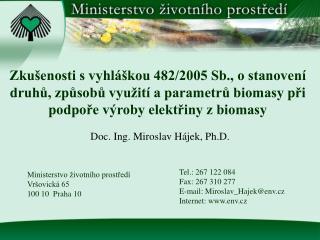 Doc. Ing. Miroslav Hájek, Ph.D.