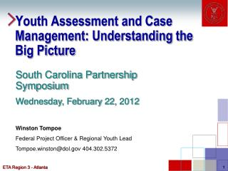 Youth Assessment and Case Management: Understanding the Big Picture