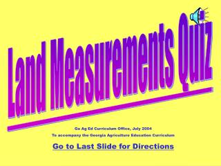 Land Measurements Quiz