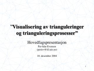 """"""" Visualisering av trianguleringer og trianguleringsprosesser"""""""