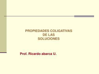 Prof. Ricardo abarca U.