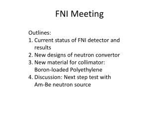 FNI Meeting