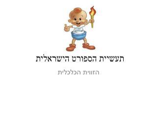 תעשיית הספורט הישראלית