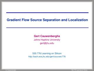 Gradient Flow Source Separation and Localization