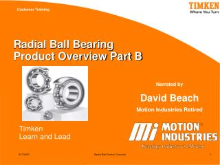 Radial Ball Bearing  Product Overview Part B