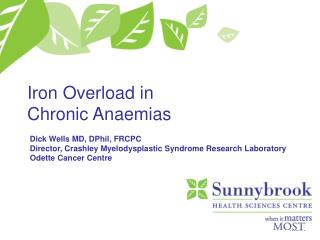 Iron Overload in Chronic Anaemias