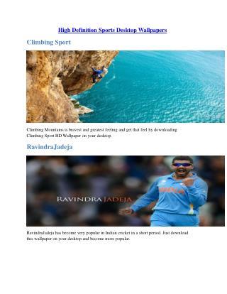 High Definition Sports Desktop Wallpapers