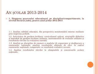 An ?colar 2013-2014