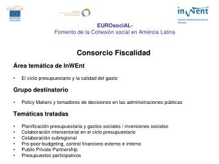 EUROsociAL- Fomento de la Cohesión social en Amércia Latina