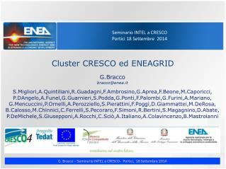Seminario INTEL a CRESCO Portici 18 Settembre  2014