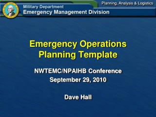 Emergency Operations Planning Template