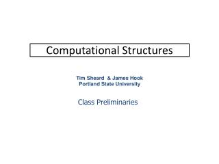 Computational Structures