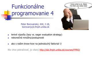 Funkcion álne  programovanie 4