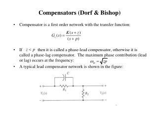 Compensators (Dorf & Bishop)