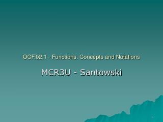 OCF.02.1 - Functions: Concepts and Notations