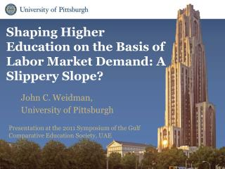 Shaping Higher Education on the Basis of Labor Market Demand: A Slippery Slope?