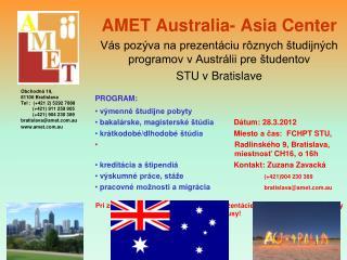 AMET Australia -  Asia  Center