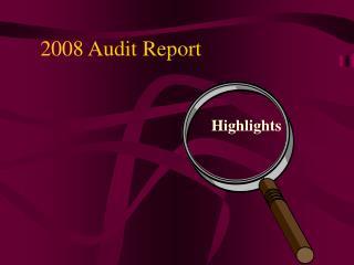2008 Audit Report