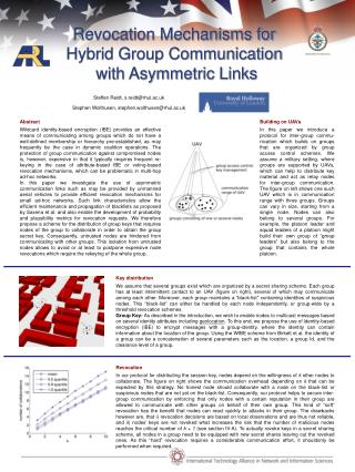 Revocation Mechanisms for  Hybrid Group Communication  with Asymmetric Links