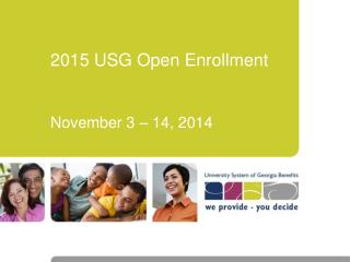 2015 USG Open Enrollment