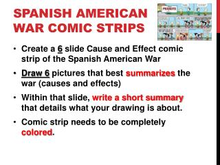 Spanish American war comic strips
